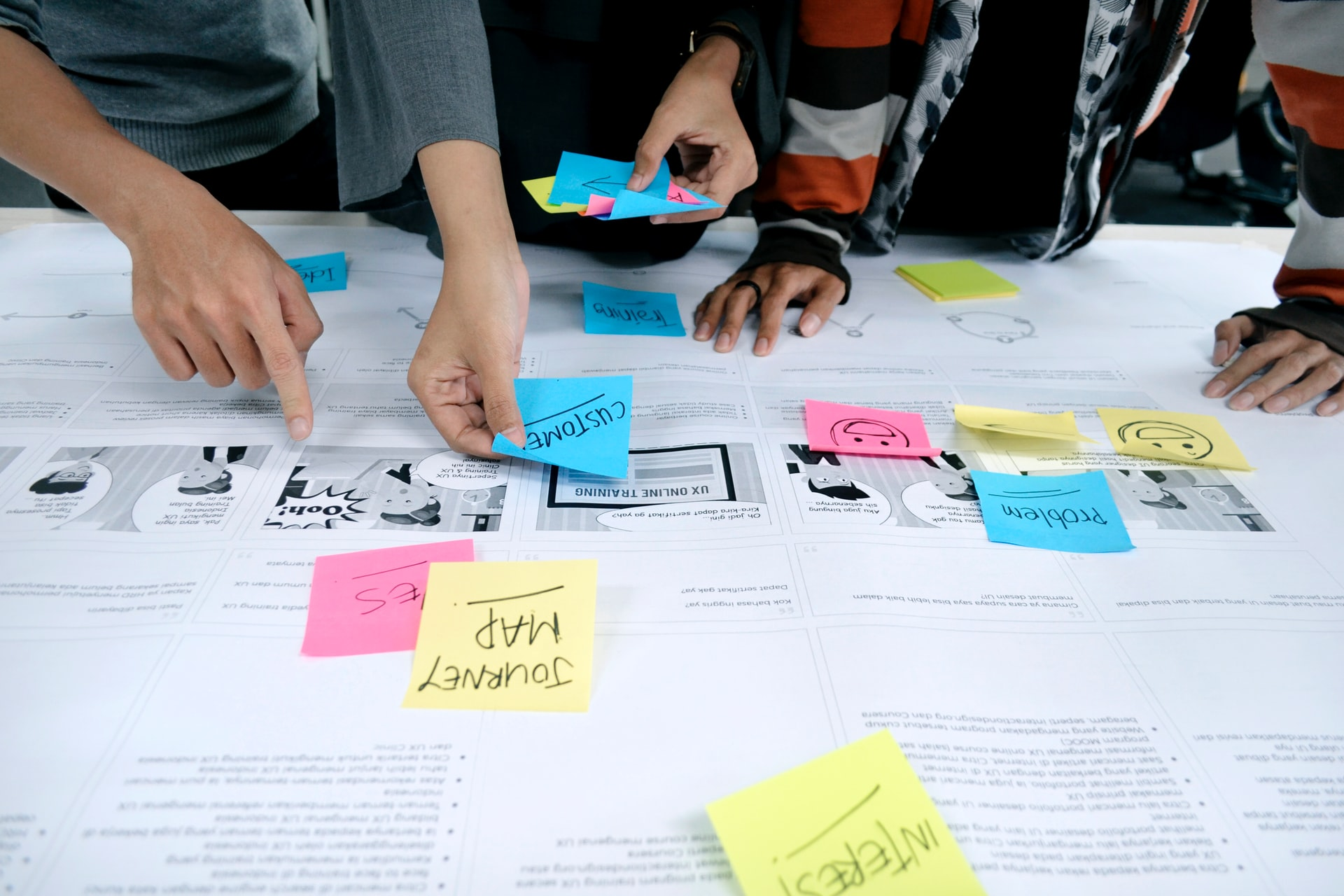 Journey mapping workshop for user experience